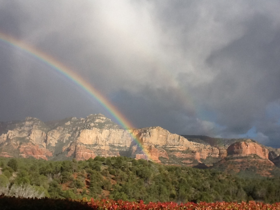Rainbow in Sedona